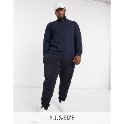 フレンチコネクション メンズ カジュアルパンツ ボトムス French Connection Plus essentials slim fit sweatpants in navy mix and match Marine