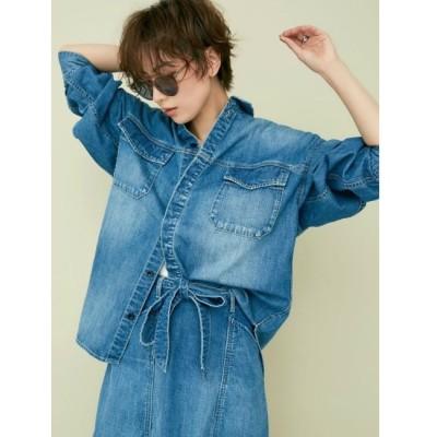 【ジェイダ/GYDA】 フライフロントデニムBIGシャツ
