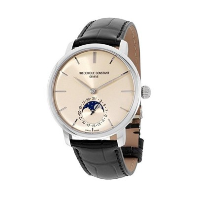 Frederique Constant Slimline Ivory Dial Leather Strap Men's Watch FC705BG4S6 並行輸入品