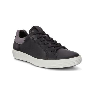 エコー スニーカー シューズ メンズ Men's Soft 7 Street Sneaker Black/Titanium