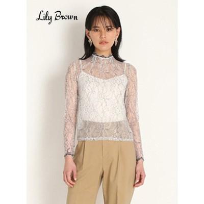 50%OFF Lily Brown  リリーブラウン タックデザインレーストップス  20春夏. LWFT202015 シャツ・ブラウス