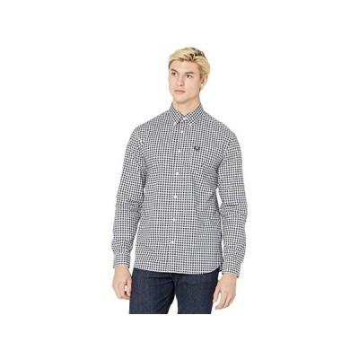 フレッドペリー Gingham Long Sleeve Shirt メンズ シャツ トップス Carbon Blue