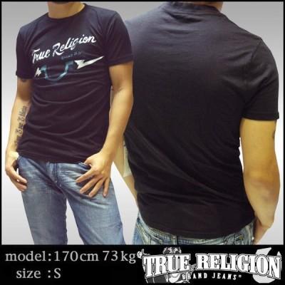 トゥルーレリジョン メンズ TRUE RELIGION Tシャツ ブラック  113 tシャツ 半袖 シャツ セレブ 愛用 ブランド ファッション アメカジ インポート カジュアル