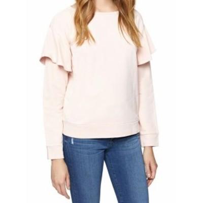 Sanctuary サンクチュアリ ファッション トップス Sanctuary NEW Rose Pink Womens Size Large L Ruffle Crewneck Sweater