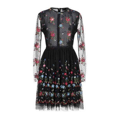 ERMANNO DI ERMANNO SCERVINO ミニワンピース&ドレス ブラック 40 ナイロン 100% ミニワンピース&ドレス