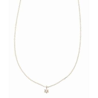 ネックレス Lilas AUTHENTIC 1ツブスモールダイヤネックK10