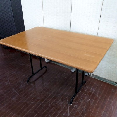 hウニコ ダイニングテーブル ファニート 幅120 オーク突板 アイアン脚 unico テーブル 店頭引取歓迎 R3655)