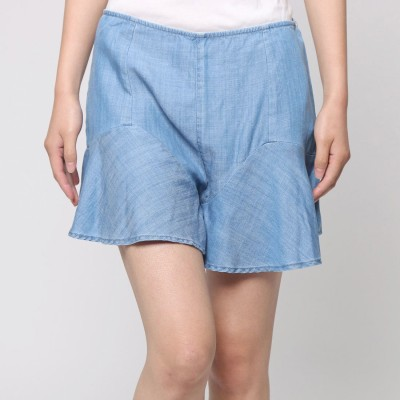 ゲス GUESS CHAMBRAY FLOUNCE SHORT (ALDEN 2 WASH)