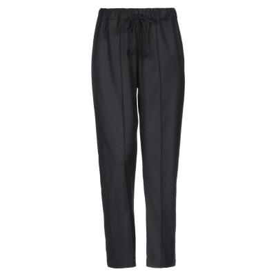 セミクチュール SEMICOUTURE パンツ ブラック 44 バージンウール 53% / ポリエステル 30% / 合成繊維 17% / ウール
