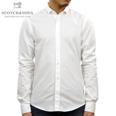 スコッチアンドソーダ SCOTCH&SODA 正規販売店 メンズ 長袖ドレスシャツ SLIM FIT- CHIC CLASSIC LONGSLEEVE SHIRT 142478 0102 51405