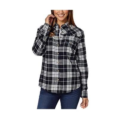Jachs Girlfriend Ladies Flannel Shirt (S, BLACK)