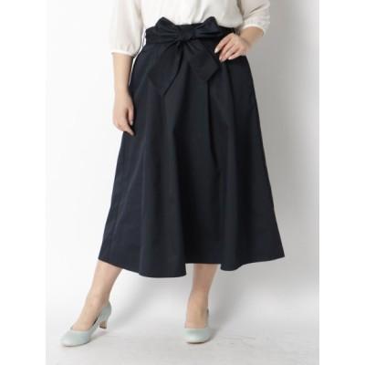 【大きいサイズ】【タイムセール中!10/20(火)10:59am迄】スキスカロングスカート 大きいサイズ スカート レディース