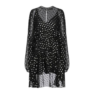 SAINT LAURENT ミニワンピース&ドレス ブラック 36 シルク 93% / 金属 7% ミニワンピース&ドレス