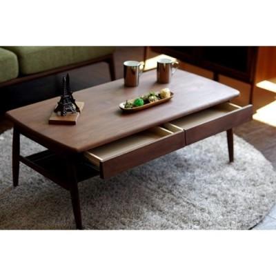 テーブル ローテーブル センターテーブル リビングテーブル ルダー無垢材 オイル仕上げ 引出 収納 100cm おしゃれ シンプル デザイン コンパクト