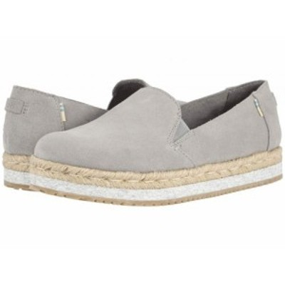 TOMS トムス レディース 女性用 シューズ 靴 ローファー ボートシューズ Palma Drizzle Grey Suede【送料無料】