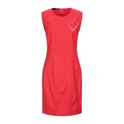 ラブ モスキーノ LOVE MOSCHINO ミニワンピース&ドレス レッド 38 レーヨン 98% / ポリウレタン 2% ミニワンピース&ドレス