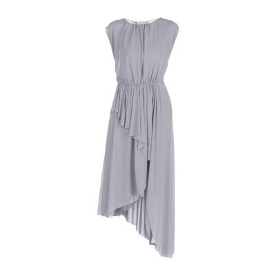 エリカ カヴァリーニ ERIKA CAVALLINI 7分丈ワンピース・ドレス グレー 42 ポリエステル 100% 7分丈ワンピース・ドレス