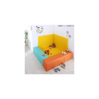 プレイ マット ベビー 厚手 クッション フロア 子供 赤ちゃん おしゃれ 防音 極厚 5点 マット2枚+椅子3枚210×120)