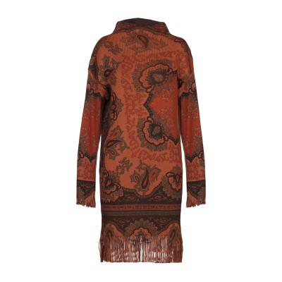 エトロ ETRO ミニワンピース&ドレス ブラウン 38 ウール 100% ミニワンピース&ドレス