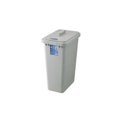 ゴミ箱 ベルク 角型ペール 45S 48L 本体・フタセット グレー ( ごみ箱 屋外 ポリバケツ )