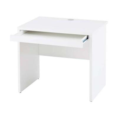 B木製デスク 幅800引出付(1個) ホワイト Z−RFPLD−0860W2−D  全国配送可 アール・エフ・ヤマカワ株式会社 41937747 41