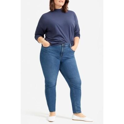 エバーレーン レディース デニムパンツ ボトムス The Authentic Stretch Mid Rise Skinny Crop Jeans MID BLUE