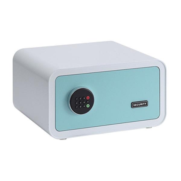 特力屋多彩筆電型保險箱-藍白