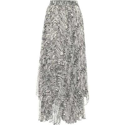 イザベル マラン Isabel Marant レディース ひざ丈スカート スカート Alena zebra-print silk-blend midi skirt Ecru Black
