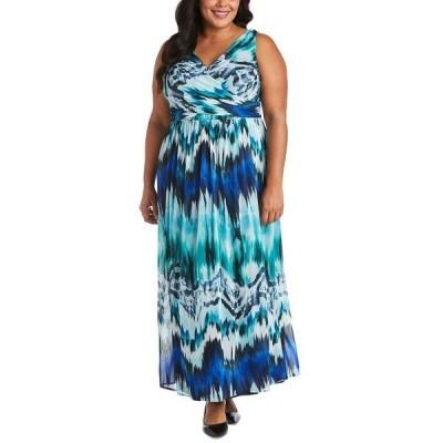 アールアンドエムリチャーズ ワンピース トップス レディース Plus Size Tie-Dyed Maxi Dress Royal