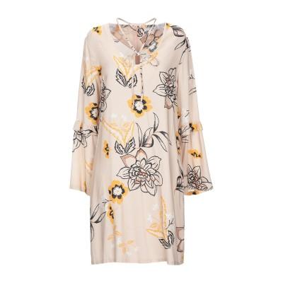 LANACAPRINA ミニワンピース&ドレス ベージュ 42 レーヨン 100% ミニワンピース&ドレス