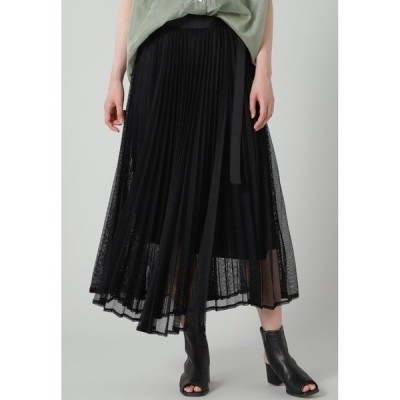 スカート メッシュプリーツスカート