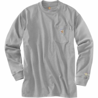 カーハート Carhartt メンズ 長袖Tシャツ トップス Flame-Resistant Force Cotton Long Sleeve T-Shirt Light Gray