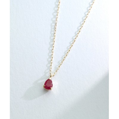L&Co. / 【誕生石】K10 ティアドロップ カラーストーン ネックレス WOMEN アクセサリー > ネックレス