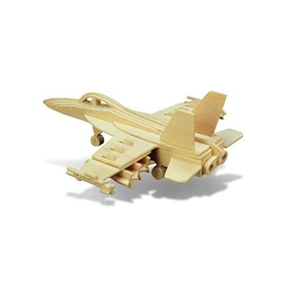 Puzzled f-18?Hornet 3dパズル木製Constructionキット