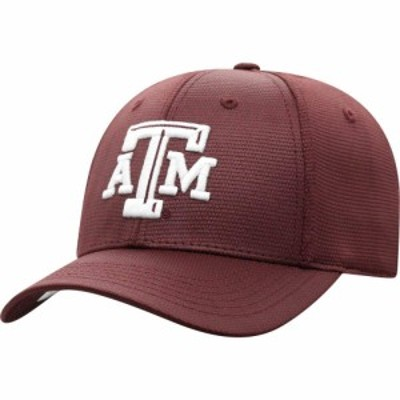 トップオブザワールド Top of the World メンズ キャップ 帽子 Texas AandM Aggies Maroon Progo 1Fit Flex Hat