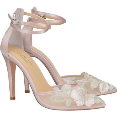 ベラベル BELLA BELLE レディース パンプス アンクルストラップ シューズ・靴 Embroidered Ankle Strap Pump Blush Mesh
