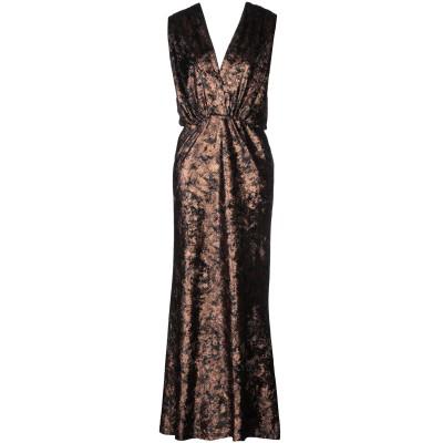 スーベニア SOUVENIR ロングワンピース&ドレス ブロンズ S ポリエステル 95% / ポリウレタン 5% ロングワンピース&ドレス