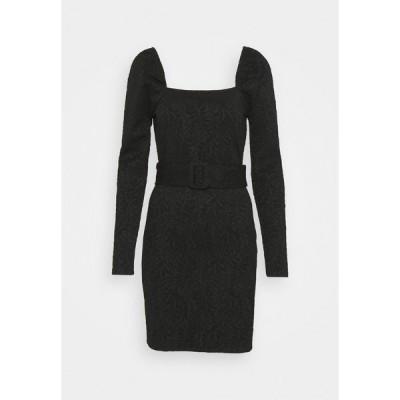 エディテッド ワンピース レディース トップス KIRSTEN DRESS - Jersey dress - schwarz