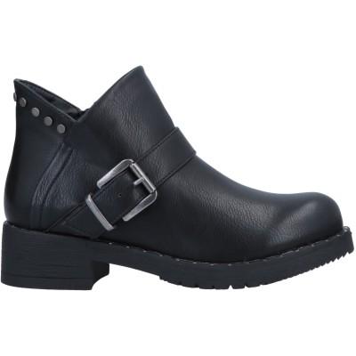 カフェノワール CAFèNOIR ショートブーツ ブラック 36 ゴム ショートブーツ