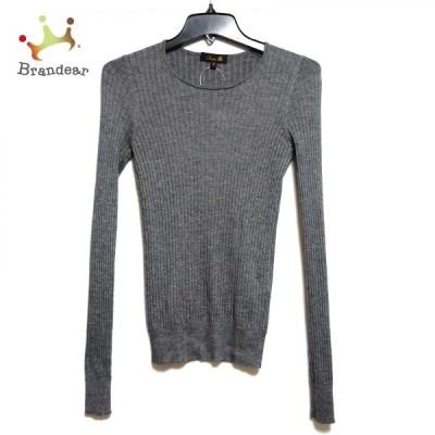 ドゥロワー 長袖セーター サイズ2 M レディース 美品 - グレー クルーネック/カシミヤ/シルク 新着 20210330