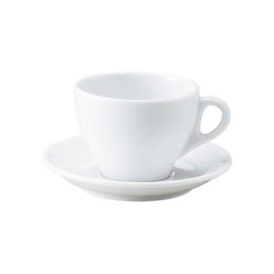 プリート ラテ・カップ&ソーサー 白い食器 cafe カフェ 食器 業務用 日本製