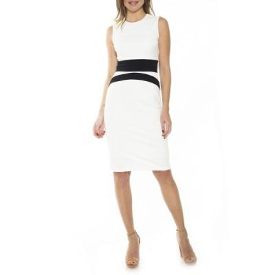 アレクシアアドマー レディース ワンピース トップス Arielle Colorblock Dress IVORY/BLACK