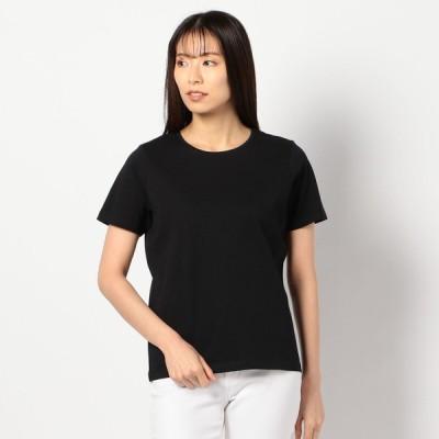 レディース 【在庫限り】オーガニック無地半袖Tシャツ ブラック M