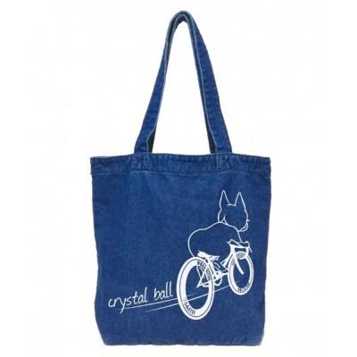 CRYSTAL BALL / Road bike Hippie Denim Tote WOMEN バッグ > トートバッグ
