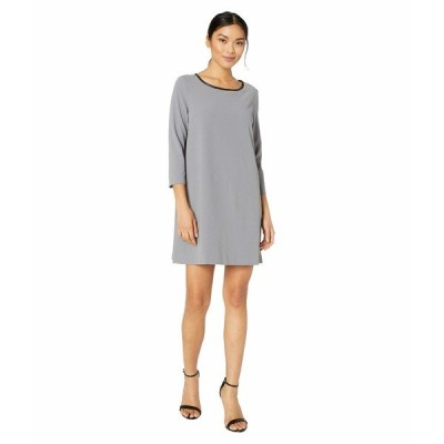 ECI ワンピース トップス レディース 3/4 Sleeve Jewel Neck Fit-and-Flare Dress Charcoal