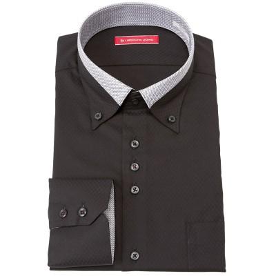 形態安定デザイン長袖ワイシャツ(ボタンダウン) (ワイシャツ)Shirts, テレワーク, 在宅, リモート