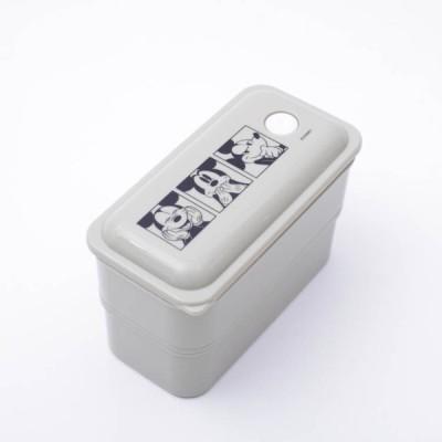 お弁当箱 ミッキー 抗菌パッキン一体型ランチボックス2段 ミッキーマウス/PALW6AG スリムタイプ 洗いやすい 弁当箱 ドーム型フタ ふんわりフタ 抗菌加工