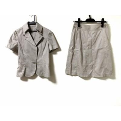 ニューヨーカー NEW YORKER スカートスーツ サイズ11 M レディース - ベージュ【還元祭対象】【中古】20200725