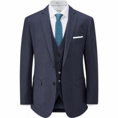 スコープス Skopes メンズ スーツ・ジャケット アウター Nyborg Micro Check Suit Jacket Navy