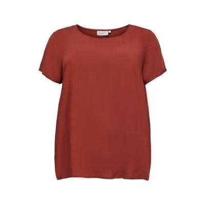 オンリー カルマコマ Tシャツ レディース トップス Basic T-shirt - fired brick